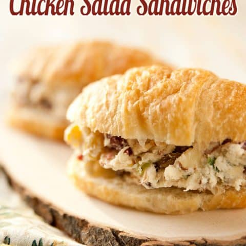 Cranberry, Feta & Almond Chicken Salad Sandwich - Krafted Koch - A flavorful twist on a classic chicken salad sandwich recipe for a delicious lunch idea!