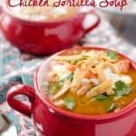 Crock Pot Chicken Tortilla Soup - Krafted Koch - A flavorful and healthy soup recipe make in your slow cooker.