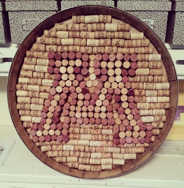 Minnesota Gopher Wine Barrel Head Wall Decor Wine Corks