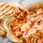 Triple Meat and Cheese Pizza Dip with Grilled Crust Dippers - Krafted Koch