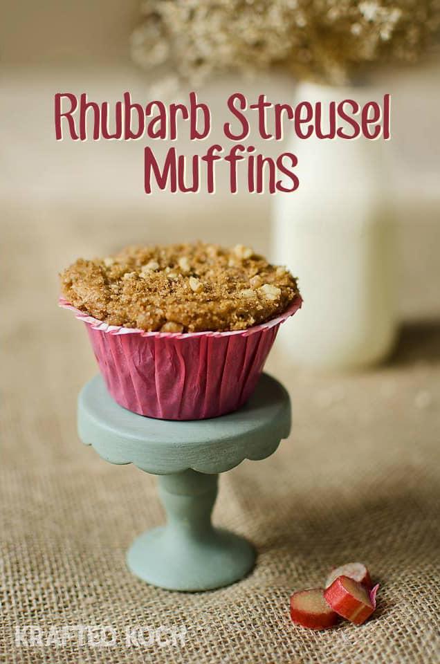 Rhubarb Streusel Muffins - Krafted Koch