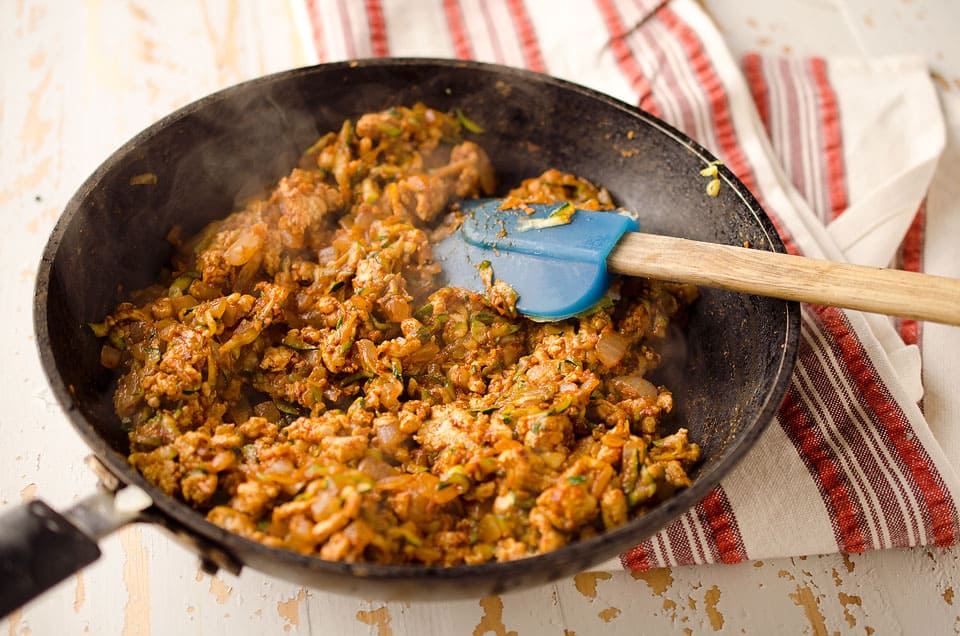 Fill up your cups with the turkey and beef mixture, top with shredded ...