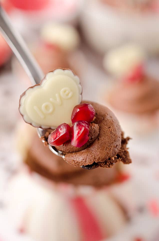 Pomegranate Chocolate Mousse Bowls - Krafted Koch