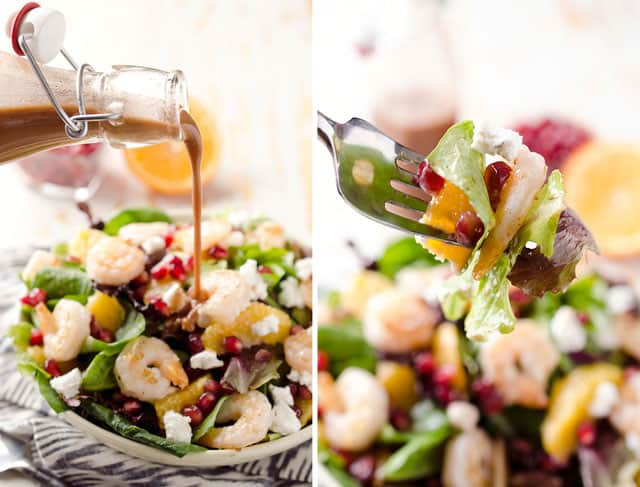 Winter Fruit & Shrimp Salad