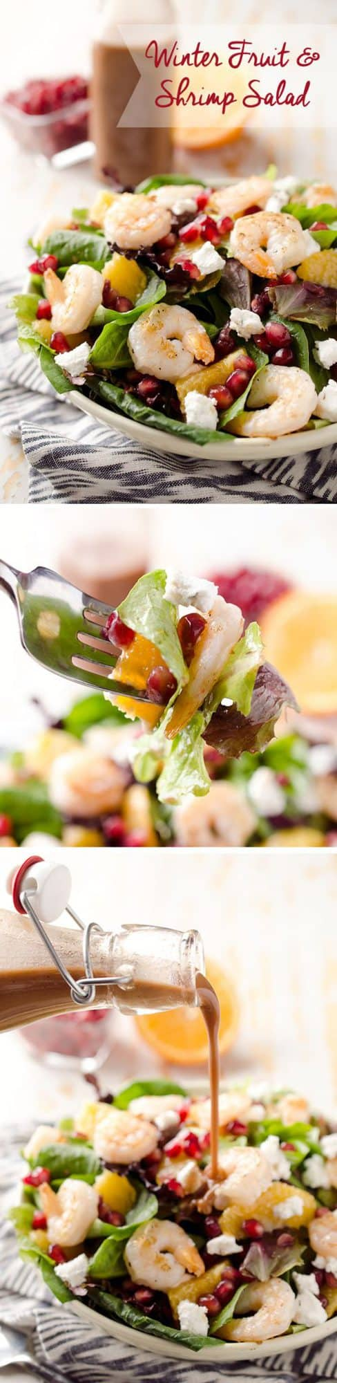winter fruit shrimp salad is a healthy entree salad filled with sweet ...