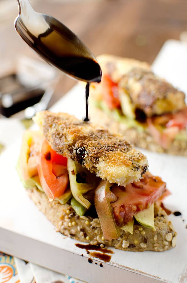 Fried Goat Cheese & Heirloom Tomato Toasts