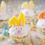 Light Coconut Cream Easter Bunny Cupcakes - Bakery Crafts Easter Bunny Cookie Cupcake Decoration Kit