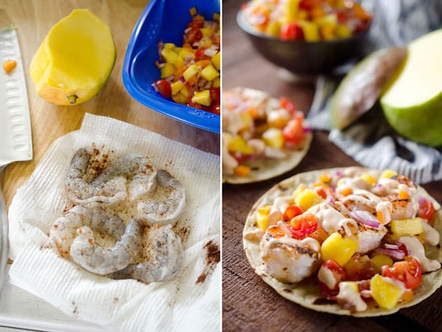 Chipotle Shrimp Tacos with Mango Salsa