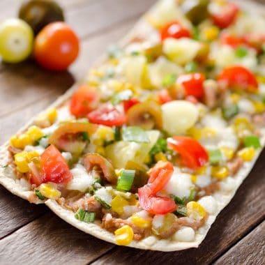 Light Tex Mex Thin Crust Pizza