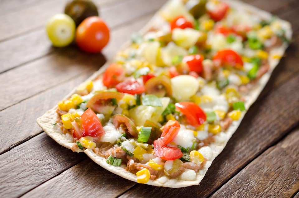 Light Tex Mex Thin Crust Pizza