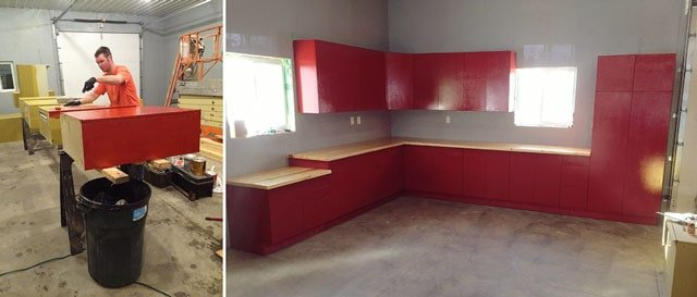 New Kitchen Remodel - Cabinets re-purposed for shop