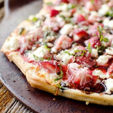 Strawberry Balsamic & Goat Cheese Pizza