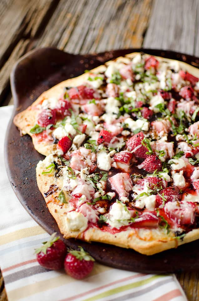 Strawberry Balsamic & Goat Cheese Pizza | Flavorful Homemade Pizza Recipes