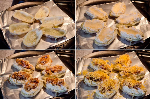 Light BBQ Chicken Twice Baked Potatoes