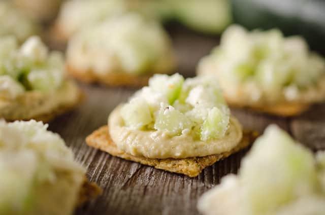 Cucumber Feta Bites