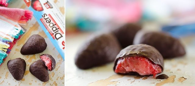Frozen Chocolate Covered Fruit