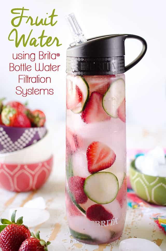 Fruit Water in Brita Personal Water Bottle