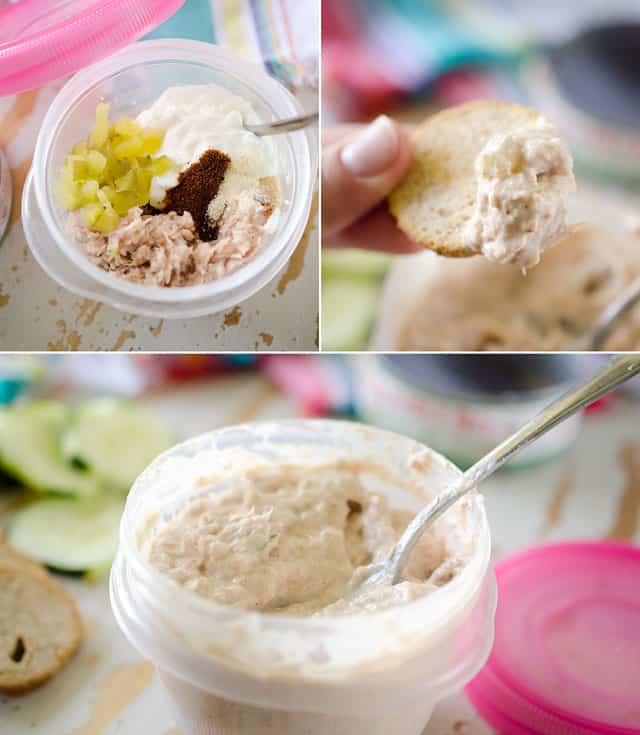 Greek Yogurt Tuna Salad with Crackers copy