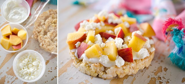 Peach & Goat Cheese Rice Cake