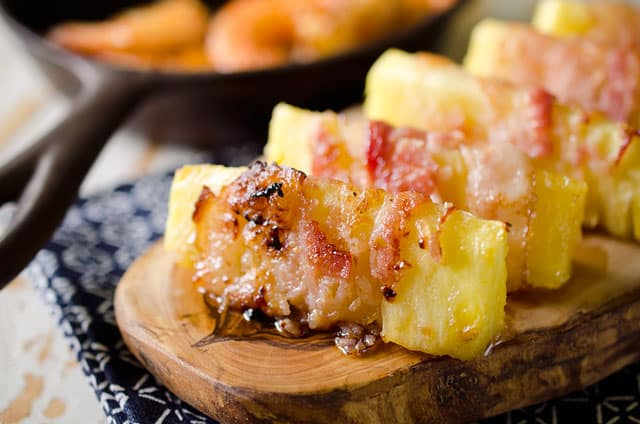 Bacon Wrapped Pineapple