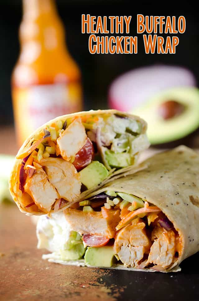 14 Manly Father's Day Recipes - Healthy Buffalo Chicken Wrap