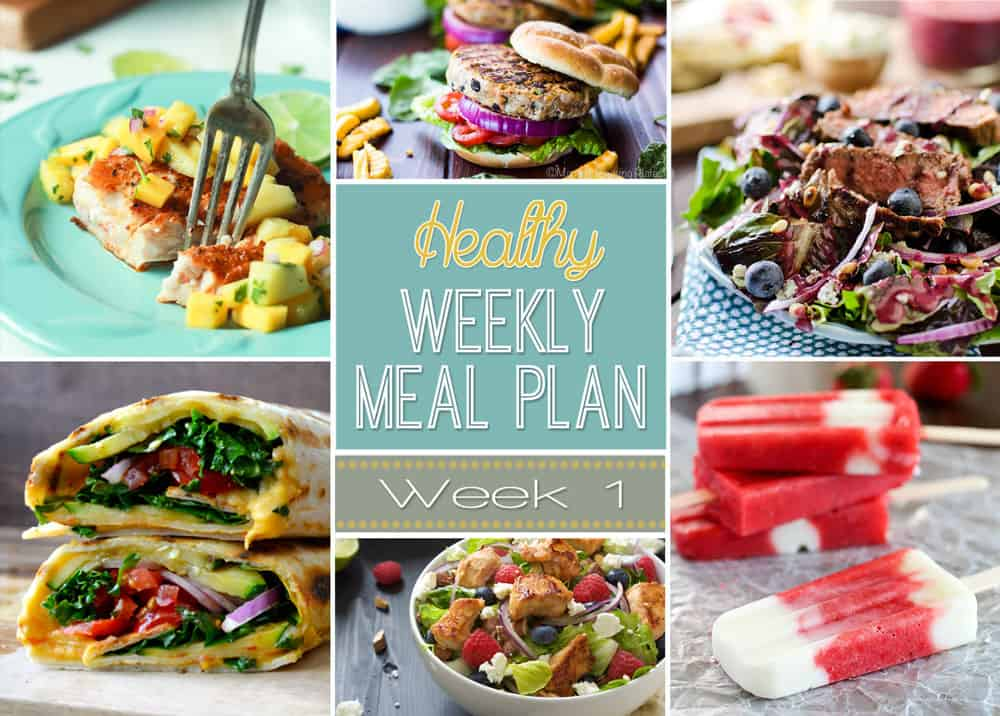 Weekly Healthy Meal Plan 1 Yummy Healthy Easy
