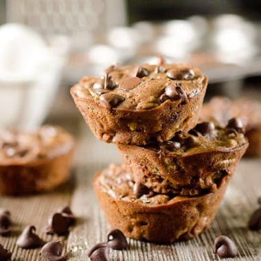 Light Chocolate Zucchini Muffins