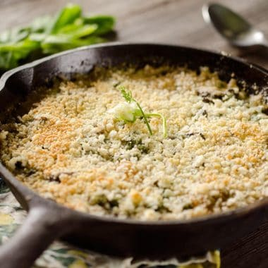 Tarragon Vegetable & Goat Cheese Gratin