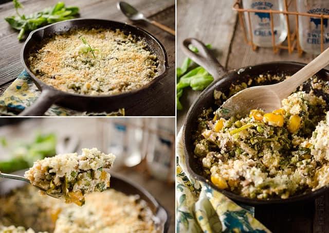 Tarragon Vegetable & Goat Cheese Gratin