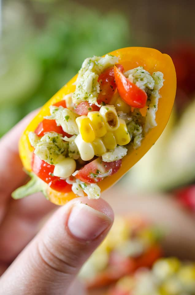 Cilantro Crab & Sweet Corn Mini Peppers