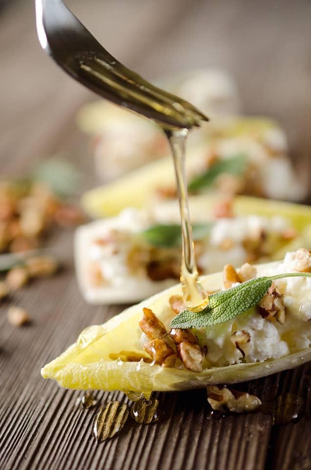 Honey & Goat Cheese Endive Bites
