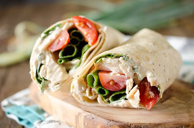Light Chipotle Ranch Chicken Wrap
