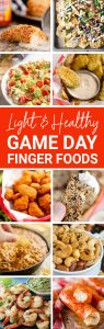 Healthy Game Day Finger Foods
