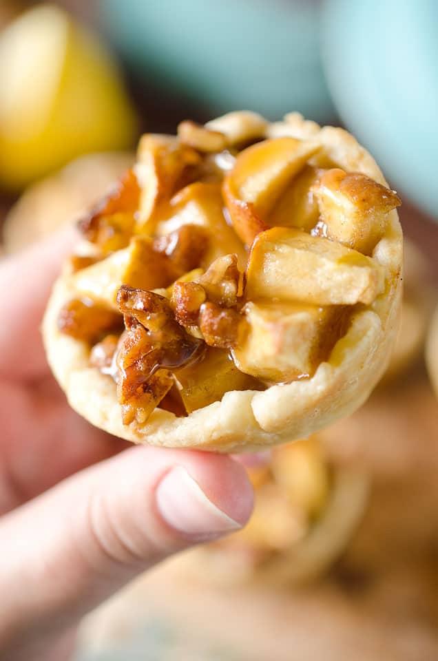 Caramel Apple Mini Pie Cups