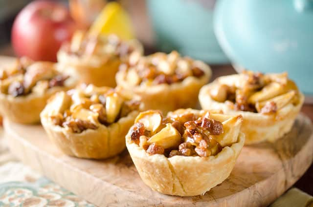 Caramel Apple Mini Pie Cups
