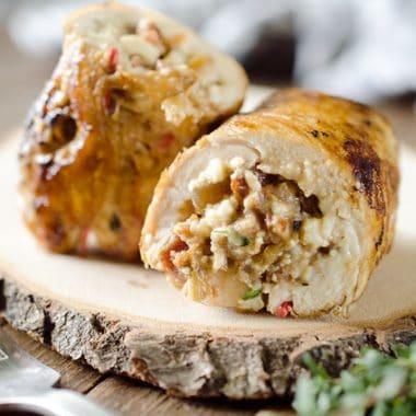 Chicken, Bacon & Feta Roulade