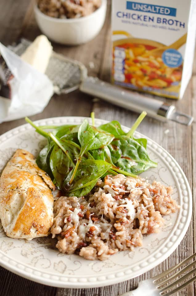 Red Wine & Pancetta Risotto is made with the new Swanson® Unsalted ...