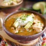 Chipotle Lime Chicken Soup is a quick and easy weeknight dinner with robust flavor and healthy ingredients.