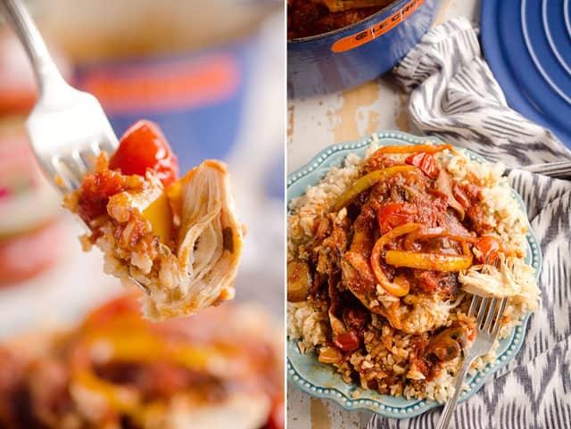 Rustic Italian Chicken Cacciatore