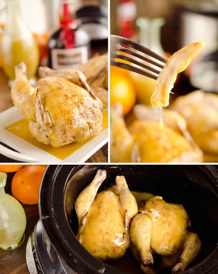 Crock Pot Cornish Hens in Orange Sauce are an elegant and easy dinner for two perfect for the holidays.
