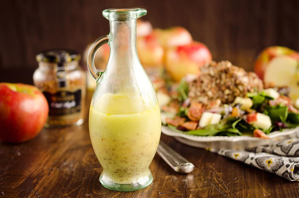 Light Honey Dijon Vinaigrette is a light and healthy dressing perfect for salad!
