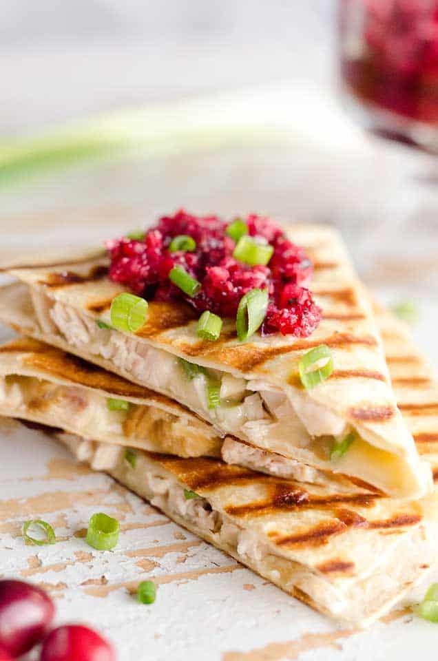 Light Cranberry Turkey Quesadilla