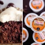 Mocha Sour Cream Cupcakes made with Dunkin' Donuts® Coffee are a rich and decadent chocolate cupcake topped with a mocha buttercream for a sweet treat perfect for any coffee lover!