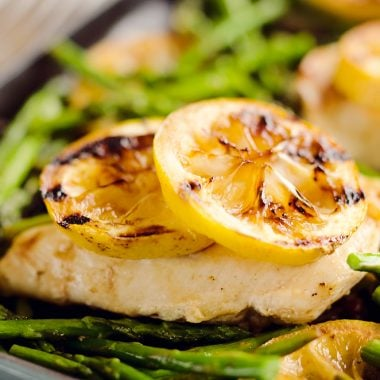 Grilled Lemon Chicken in Skillet