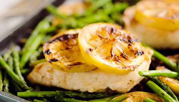 Grilled Lemon Chicken in Skillet