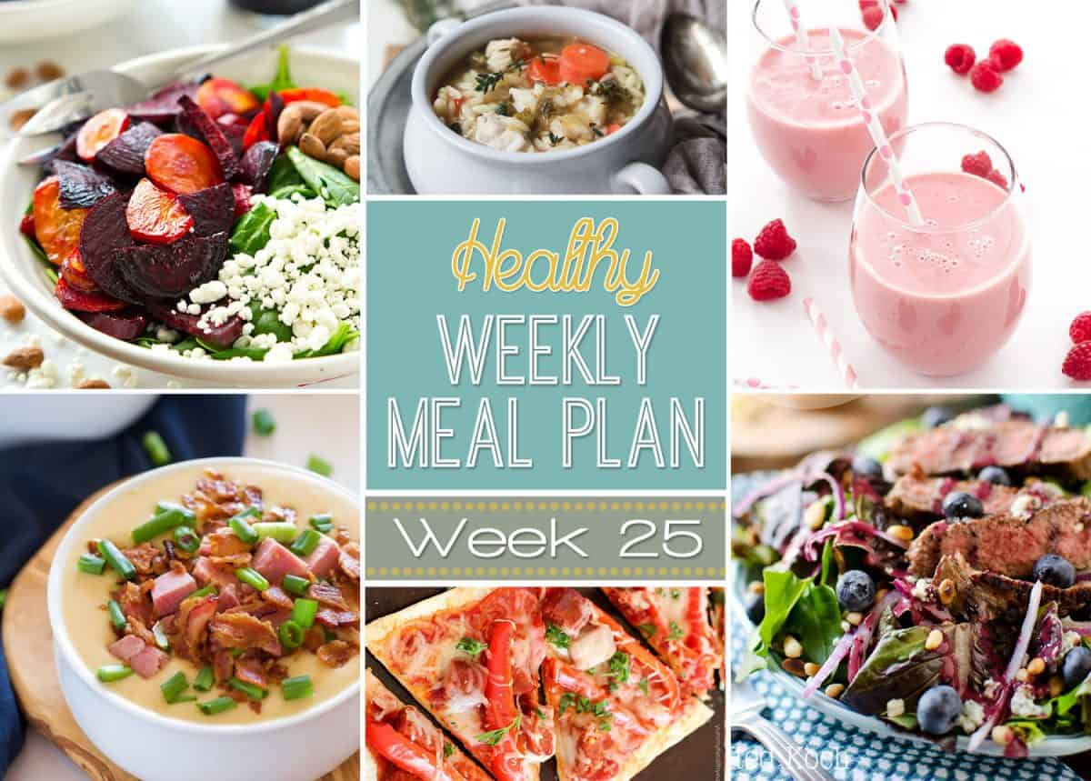Healthy Weekly Meal Plan #25