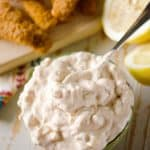 Light Chipotle Tartar Sauce is made with Greek yogurt for a healthy version of the classic dipping sauce that pairs so perfectly with fish.