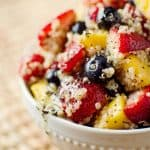 Fruit & Quinoa Salad with Citrus Poppy Seed Dressing - The Creative Bite