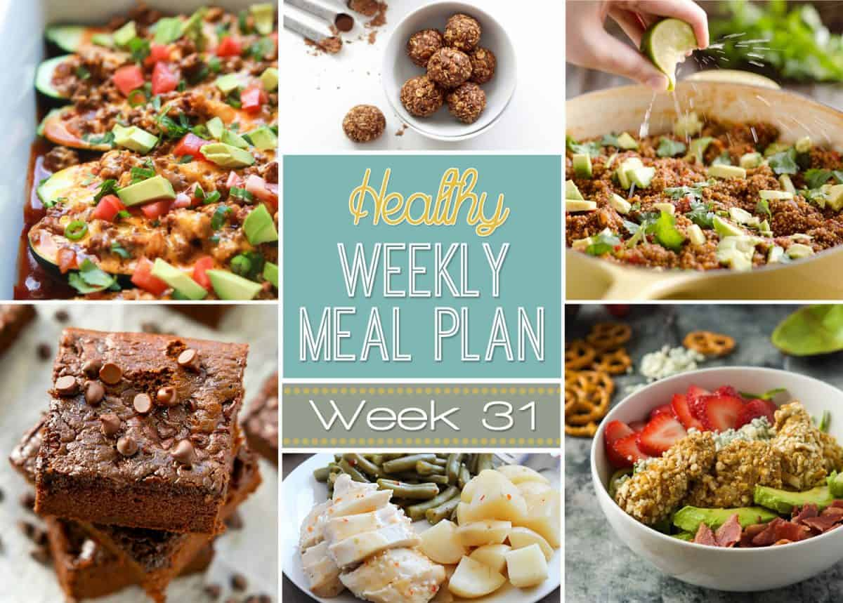 Healthy Weekly Meal Plan Week 31