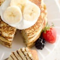 Light & Fluffy Banana Protein Pancakes